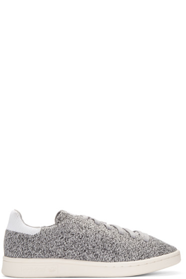 adidas Originals - Grey Primeknit Stan Smith Sneakers