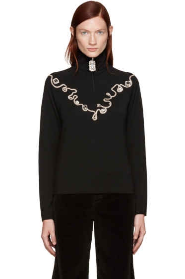 Wales Bonner - Black Karim Zip Track Sweater