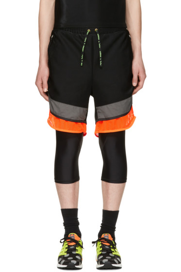 Adidas x Kolor - Black Film Yarn Layered Shorts