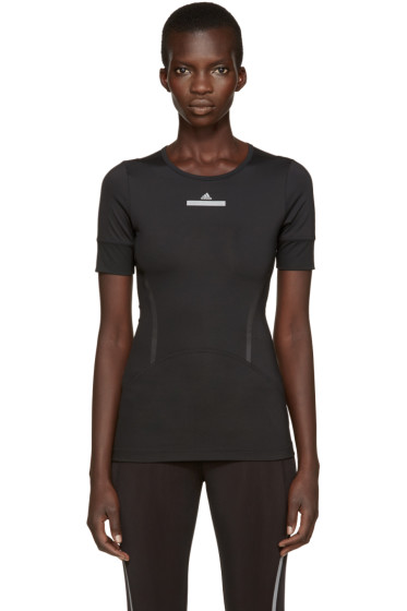 adidas by Stella McCartney - Black Climalite Run T-Shirt
