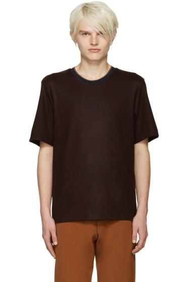 CMMN SWDN - Burgundy Ivor T-Shirt