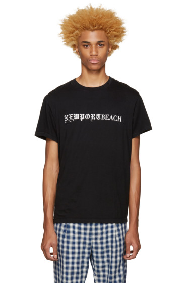 Noon Goons - Black 'Newport Beach' T-Shirt
