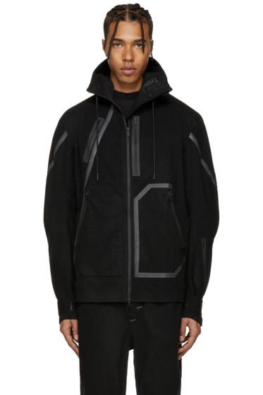Y-3 SPORT - Black Wool Hooded Jacket