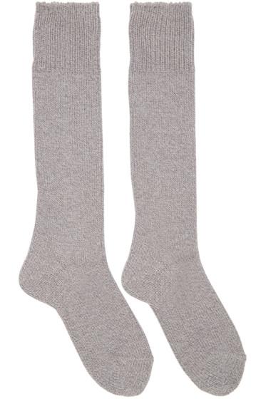 Hyke - Grey Knit Socks