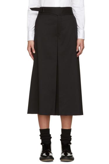 Hyke - Black Wool Culottes