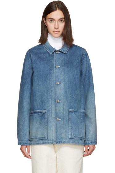 Chimala - Blue Distressed Denim Jacket