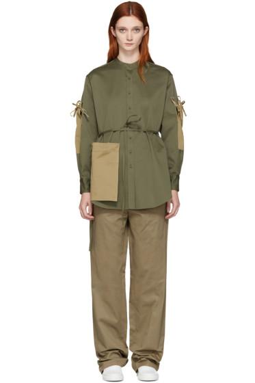 Ports 1961 - Green Pockets & Ties Shirt