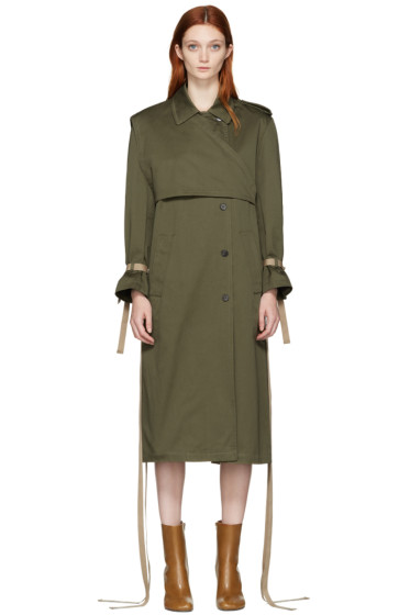 Ports 1961 - Green Belted Trench Coat