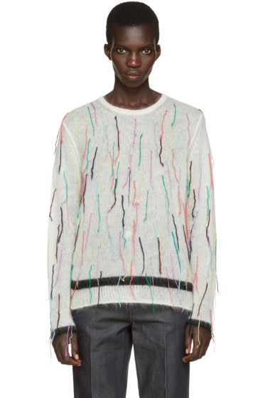 Ports 1961 - Ivory Mohair Fringed Sweater