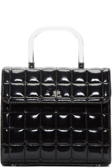 Courrèges - Black Quilted Vinyl Box Bag