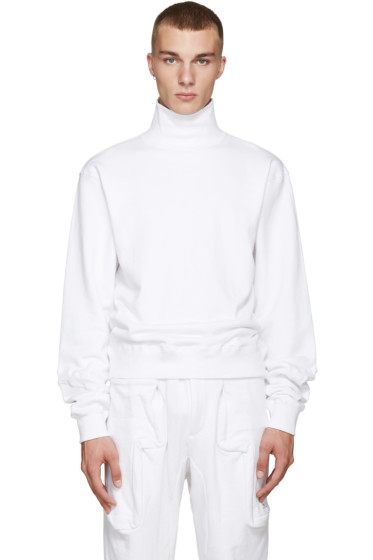 Perks and Mini - White Activate Hi Neck Pullover