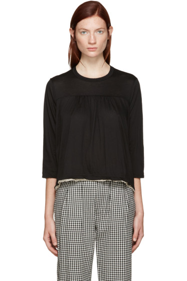 Tricot Comme des Garçons - Black Lace Trim T-Shirt