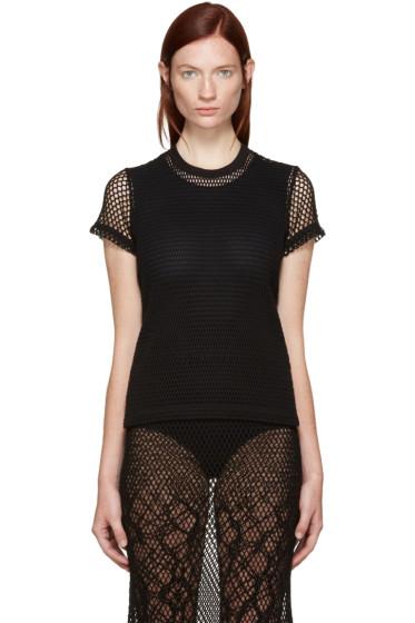 Tricot Comme des Garçons - Black Mesh T-Shirt