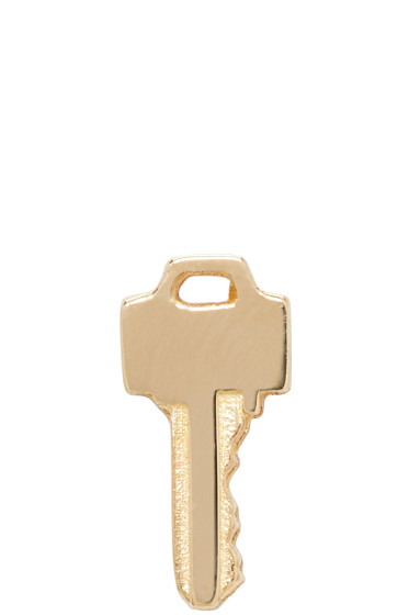 Lauren Klassen - Gold Tiny Key Earring