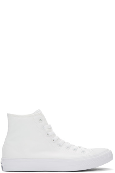 Converse - White Chuck Taylor All Star II High-Top Sneakers