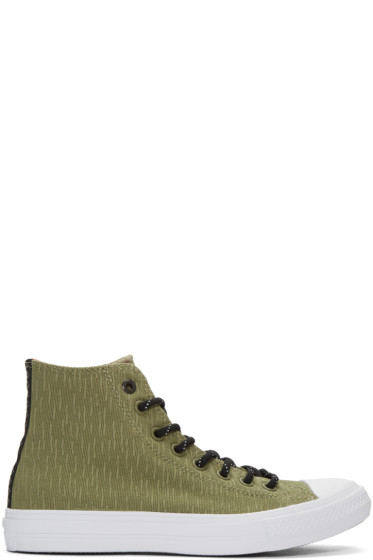 Converse - Green Reflective Chuck Taylor All Star II High-Top Sneakers