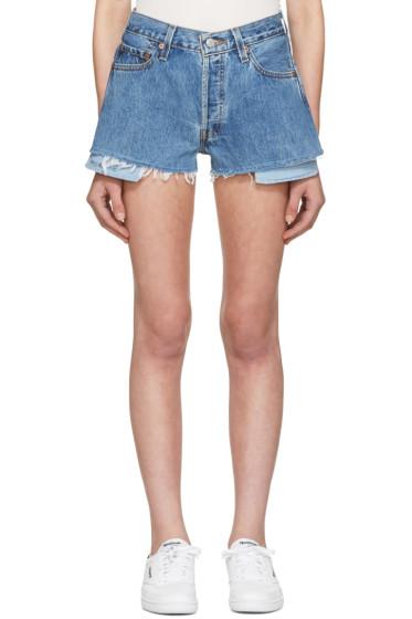 Re/Done - Blue Denim Shorts