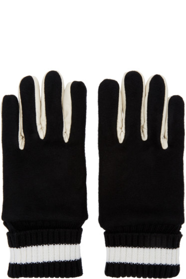 Ganryu - Black Wool & Leather Gloves