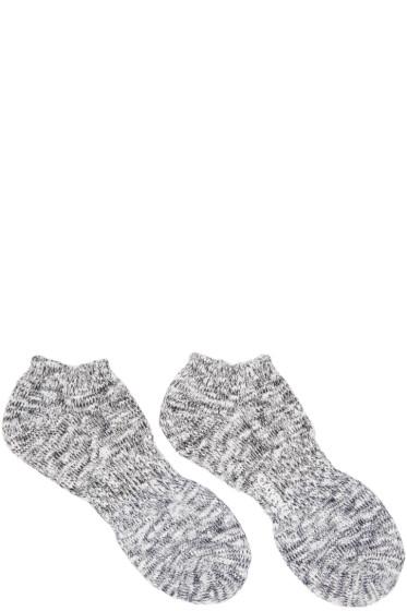 Ganryu - Black & Navy Marbled Socks
