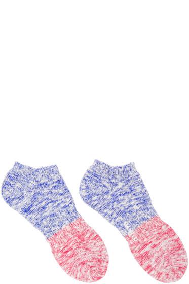 Ganryu - Blue & Red Ankle Socks