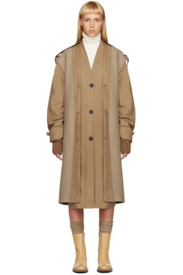 Nehera - Tan Layered Trench Coat
