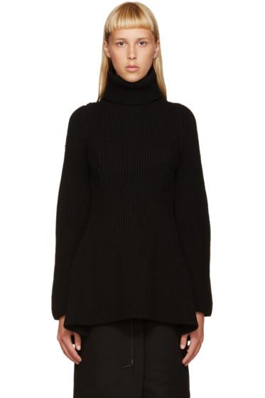 Nehera - Black Merino Wool Turtleneck