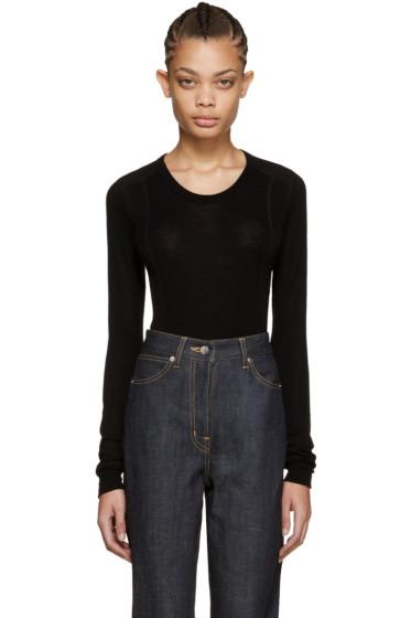 Cyclas - Black Rib Knit Pullover