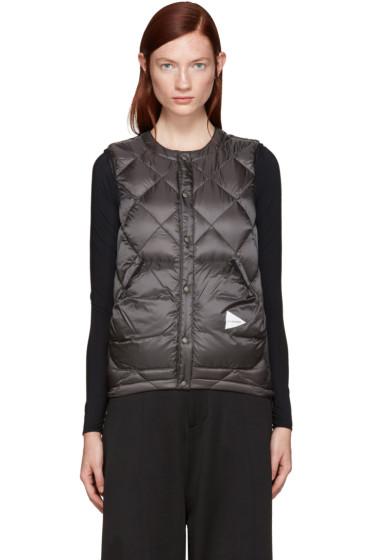 and Wander - Grey Diamond Stitch Down Vest