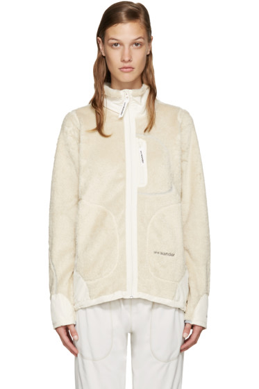 and Wander - Off-White Fleece Jacket