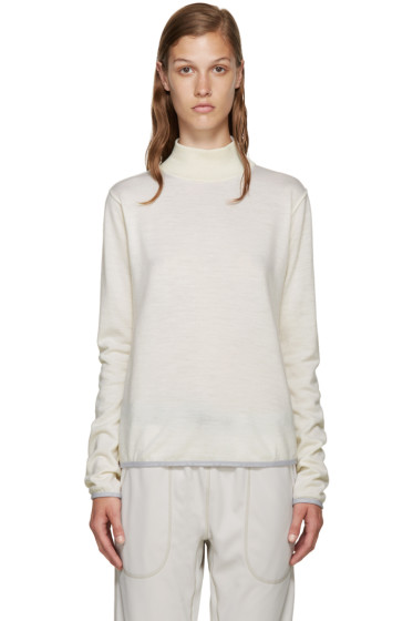 and Wander - Off-White Mock-Neck Sweater