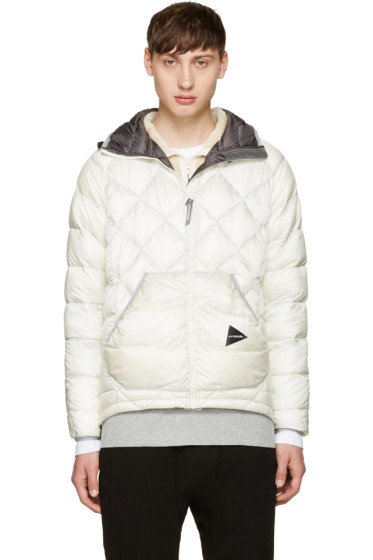 and Wander - Off-White Diamond Stitch Down Jacket