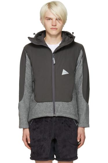and Wander - Grey Twill Fleece Jacket