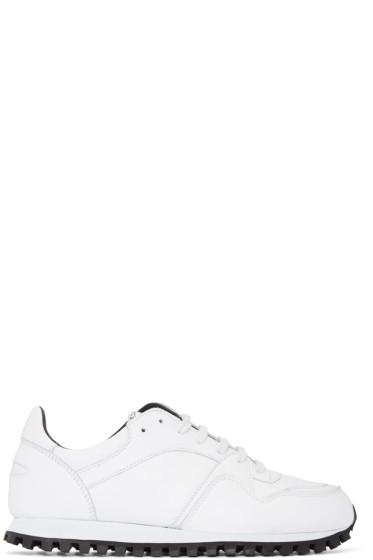 Spalwart - White Nappa Marathon Sneakers