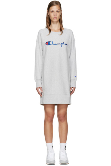 Champion Reverse Weave - Grey Logo Pullover Dress