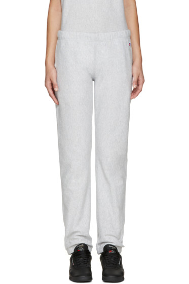 Champion Reverse Weave - Grey Logo Lounge Pants