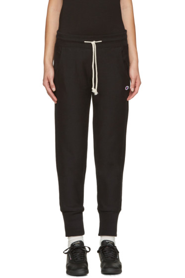 Champion Reverse Weave - Black Small Logo Lounge Pants