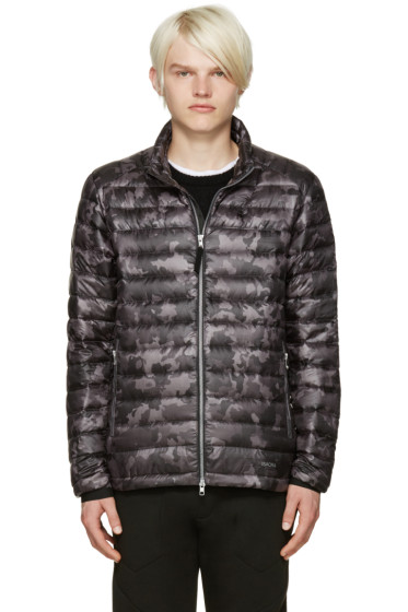 ISAORA - SSENSE Exclusive Grey Quilted Camo Down Jacket