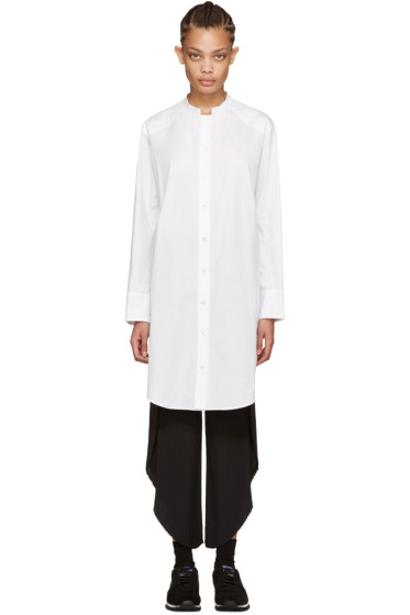 Nocturne #22 - White Boardcloth Long Shirt