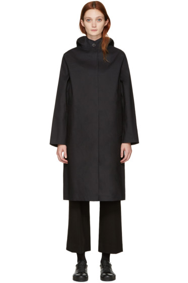 Mackintosh - Black Long Hooded Coat