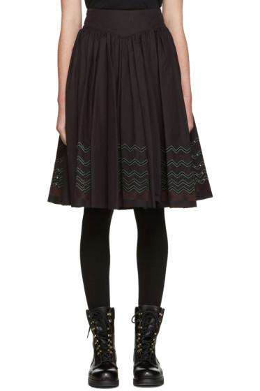 Harikae  - Black Pleated Skirt