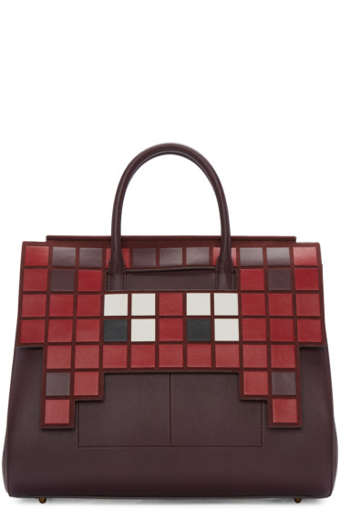 Anya Hindmarch - Burgundy Space Invaders Ephson Bag