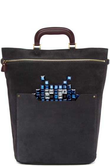Anya Hindmarch - Grey Small Orsett Space Invaders Bag