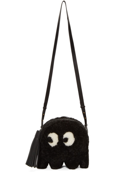 Anya Hindmarch - Black Shearling Ghost Furry Bag
