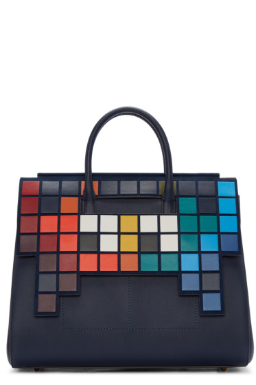 Anya Hindmarch - Blue Medium Space Invaders Ephson Bag