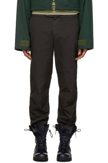 YEEZY Season 3 - Grey Cotton Moto Jogger Pants