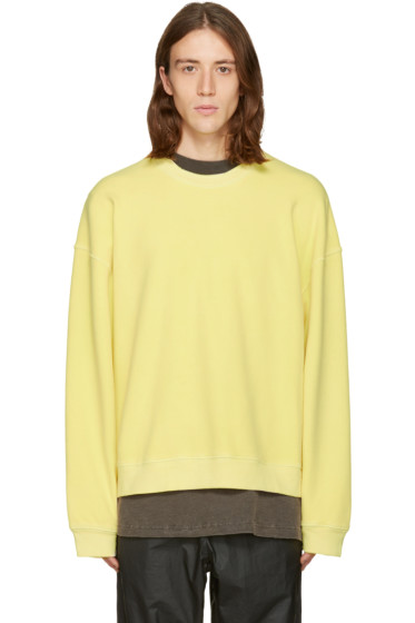 YEEZY Season 3 - Yellow Ribbed Crewneck Pullover
