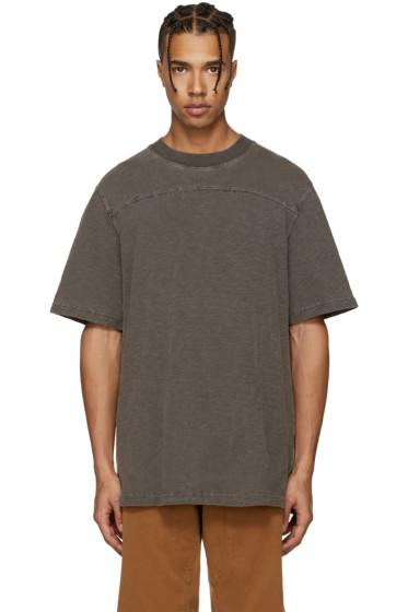 YEEZY Season 3 - Brown College Slub Knit T-Shirt