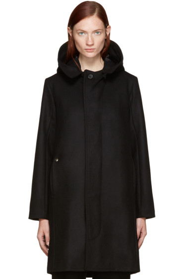 Bless - Black Wool Hooded Jacket