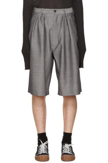 Bless - Grey Jacquard Pleated Shorts