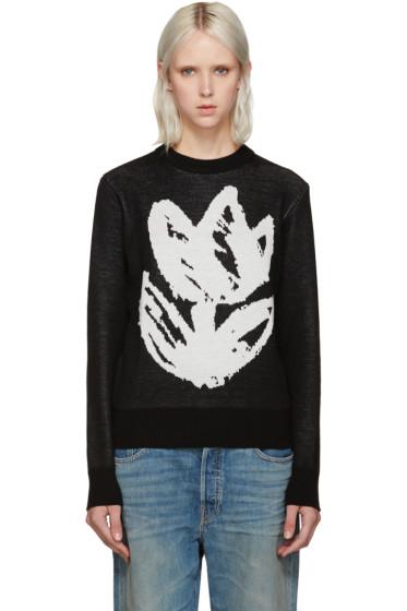 Writtenby - Black Tulip Knit Sweater